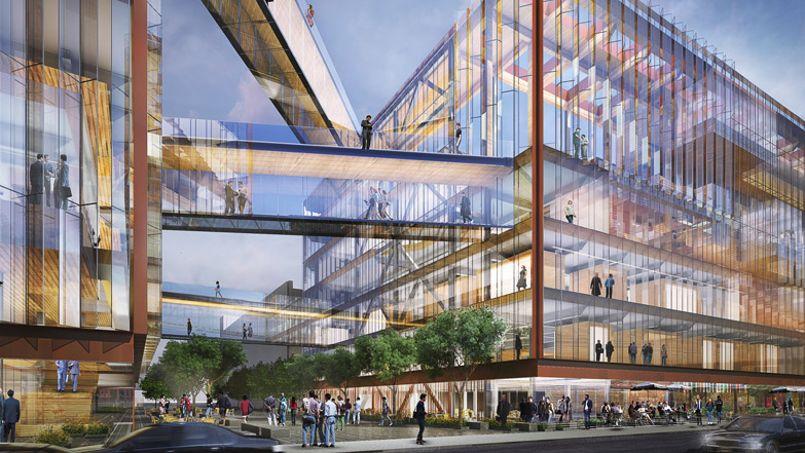 Les futurs locaux de Uber. Crédit: Architecture studio SHoP.