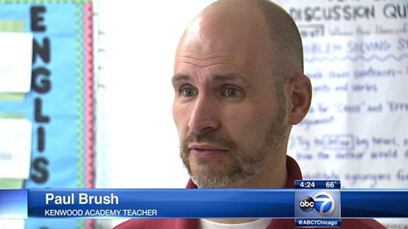 Paul Brush, l'un des professeurs d'Arianna Alexander à la Kenwood Academy High School./© ABC 7