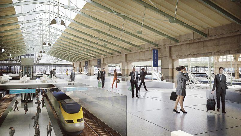 Le futur terminal Eurostar.