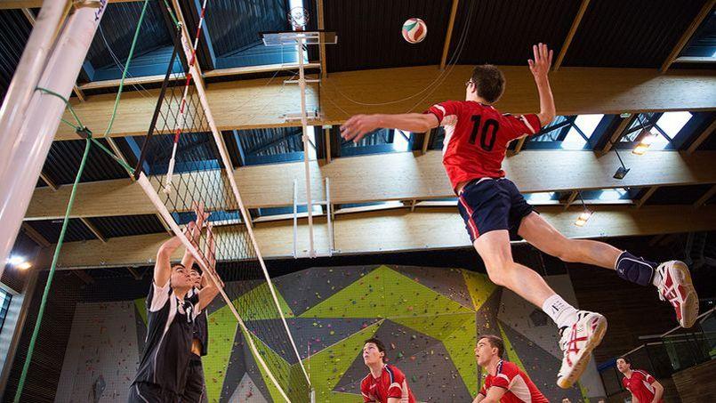 Equipe de volley masculine de l'Ecole Polytechnique lors du tournoi sportif des grandes écoles de la Défense. Jérémy Barande / École polytechnique