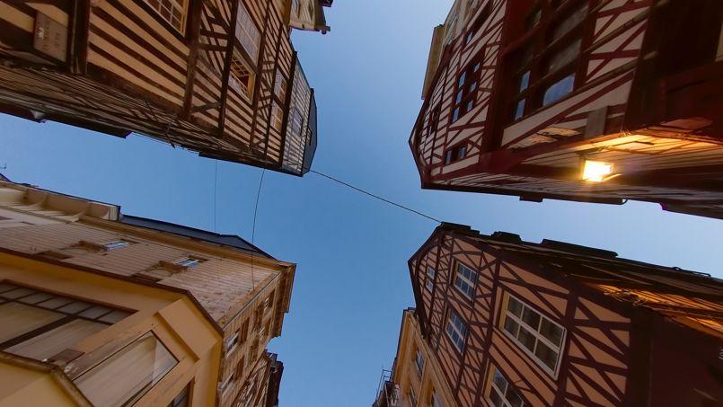 Maisons à colombages dans le centre-ville de Rouen. Crédit Photo: Frédéric BISSO/Flickt