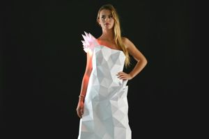 La robe connectée en papier - Crédits: Eva Pinto