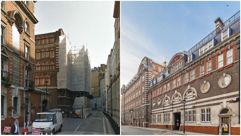 À gauche, la façade de l'hôtel en travaux. À droite, l'hôtel terminé. Crédit: LuLu Group.