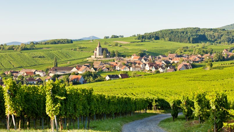 Le village de Itterswiller en Alsace.
