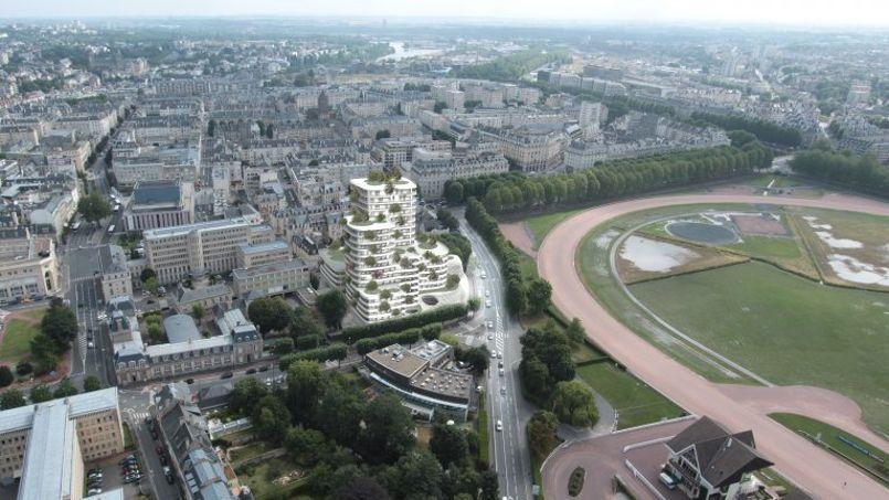 À Caen, une ancienne caserne va être transformée en grand complexe de logements sociaux. <br/> Illustration: Harmonic + Masson & Associés.