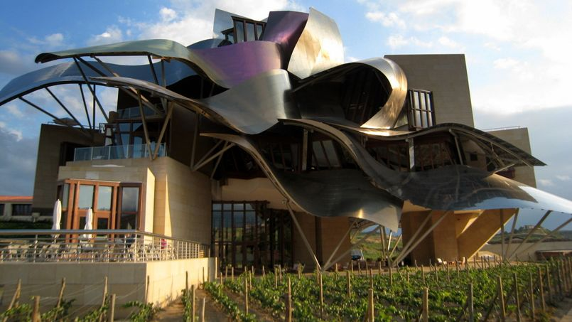 Frank Gehry a conçu ce chai délirant dans la région de la Rioja. Crédit: DR