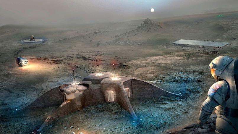 Le second prix a été attribué au projet GAMMA, qui imagine un habitat marsien conçu par des robots semi-autonomes. Crédit Photo: GAMMA
