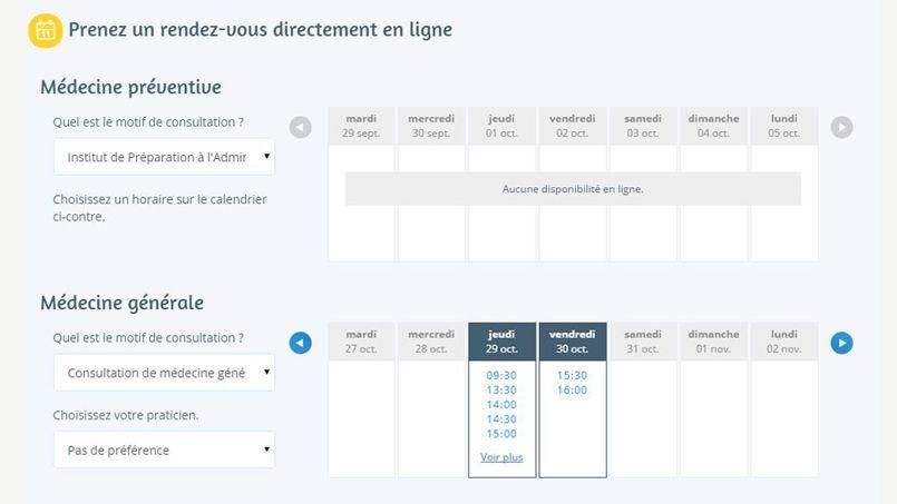 Doctolib.fr, la plateforme internet mise en place pour faciliter la prise de rendez-vous.