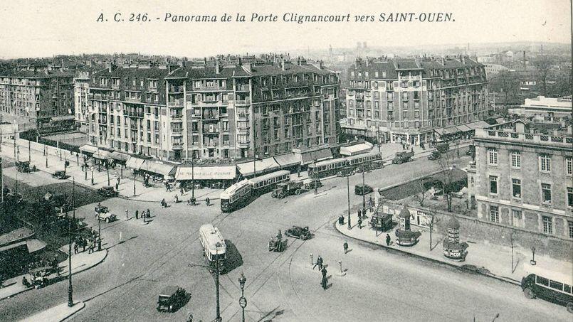 Vue de la porte de Clignancourt, dans les années 30, avec un ensemble d'habitations à bon marché. Crédit: Wikimedia