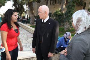 Le Frère Peter Bray, recteur de l'université. ©Bethlehem University