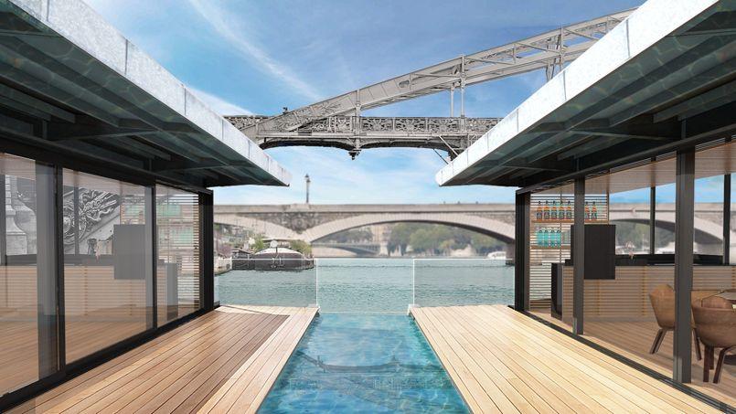 Image de synthèse de l'hôtel «OFF Paris Seine». L'établissement proposera 58 chambres, à partir de 160 euros la nuit.