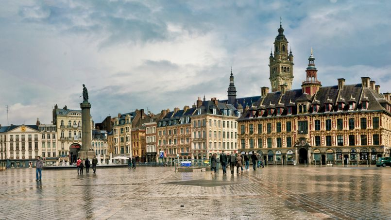 La Grande Place de Lille. Crédit: Hallé F.