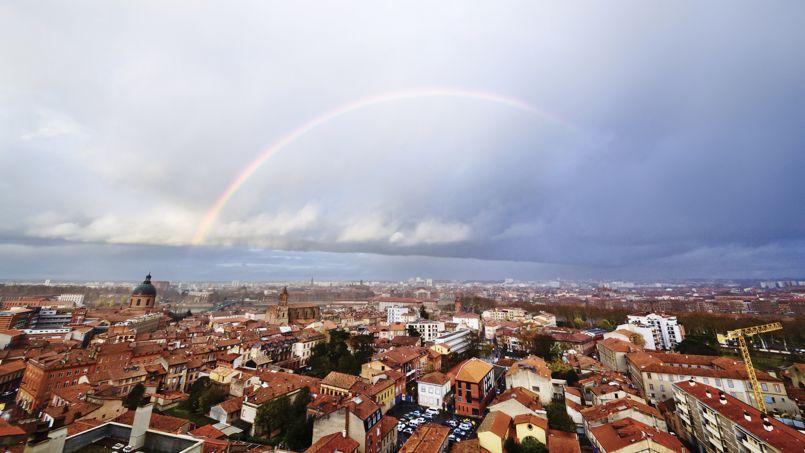 Vue sur les toits de Toulouse.