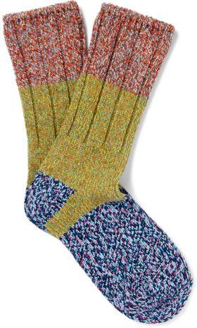 KAPITAL sur MRPORTER.COM - Chaussettes pour Homme en tricot à blocs de couleur – 40 €