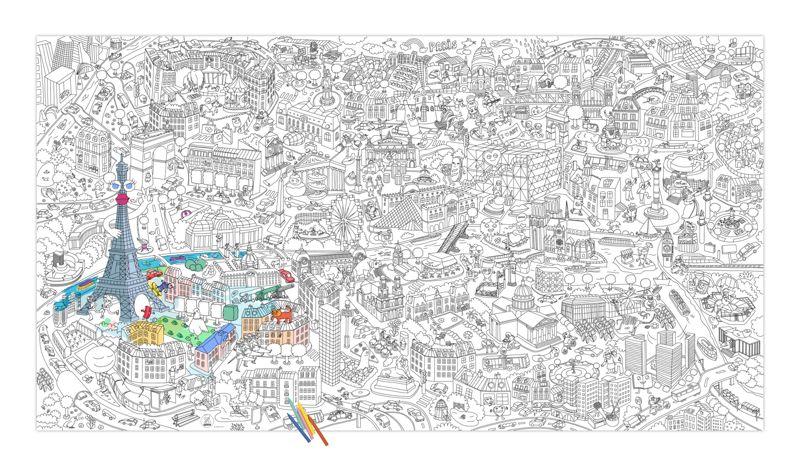 Poster géant de Paris à colorier - OMY - 9,90