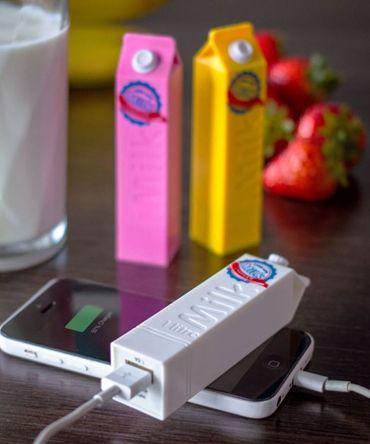 Chargeur externe pour smartphones Milk - L'avant gardiste - 24,95 €