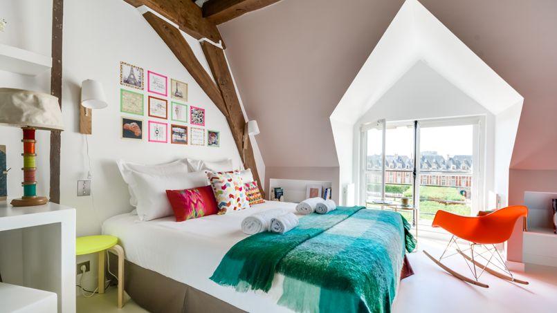 Appartement avec vue sur la place des Vosges.