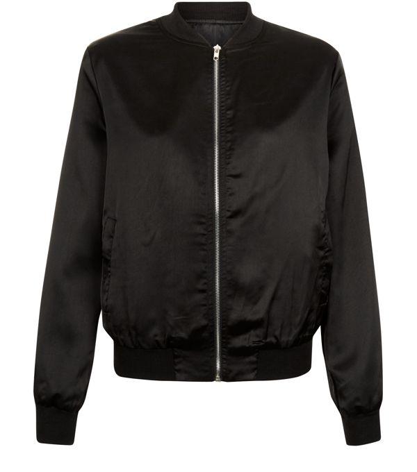 Bomber en satin noir - New Look - 29,99 €