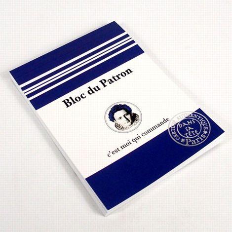 Pour le flatter. Bloc-notes A5 Patron chez Fleux. Prix: 12,90 € - ©Fleux