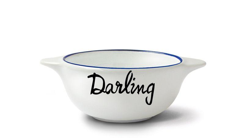 Pour penser à son chéri chaque matin.  Bol breton Darling - Pied de poule, Fleux. Prix: 19,90 € - ©Fleux