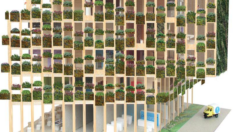 Vue d'artiste du projet Edison Lite. Crédit: Manuelle Gautrand Architecture