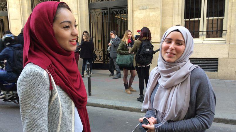 Lætitia et Hymen veulent «défendre également les femmes qui sont obligées de porter le voile» ©C-A.L