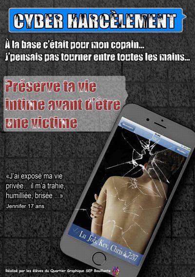 Affiche coup de cœur de la Guadeloupe, prix Non au harcèlement 2016, pour le Lycée de Pointe Noire.