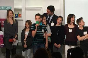 Les élèves de 6ème-5ème du collège Frédéric Mistral à Saint-Maurice-L'Exil.