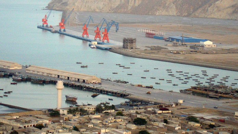 Vue sur Gwadar et son port.