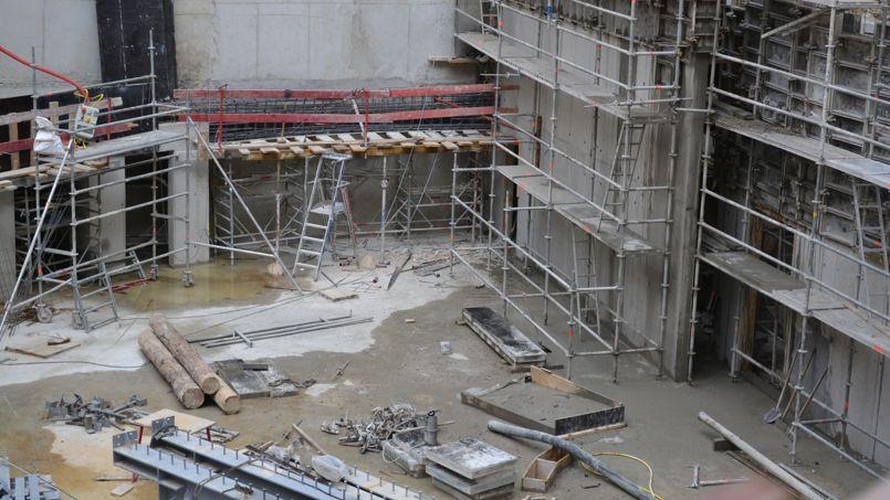 Le squelette du futur amphithéâtre ©C-A.L