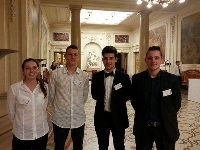 Pauline, Antoine, Simon et Baptiste sont tous les quatre lauréats avec deux 3e prix ex aequo ©juliesaintgermes