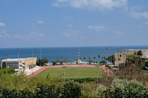 Le campus à l'américaine de l'AUB, de 73 hectares surplombe la mer Méditerranée. Flickr/©marviikad