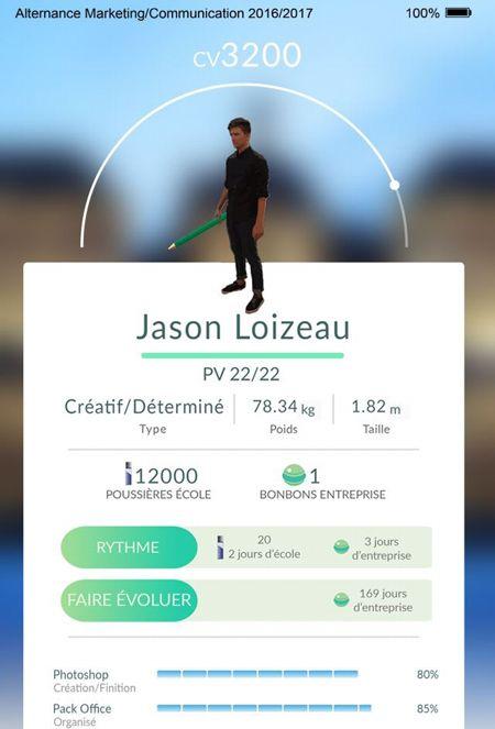 Jason a recréé l'ergonomie de l'application «à partir de captures d'écrans».