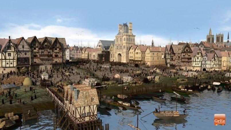 La place de Grève, devenue en 1803 place de l'Hôtel de Ville. Crédit: Grez Productions.