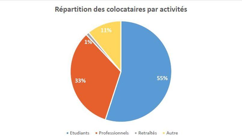 Plus de la moitié des colocataires en province sont étudiants.