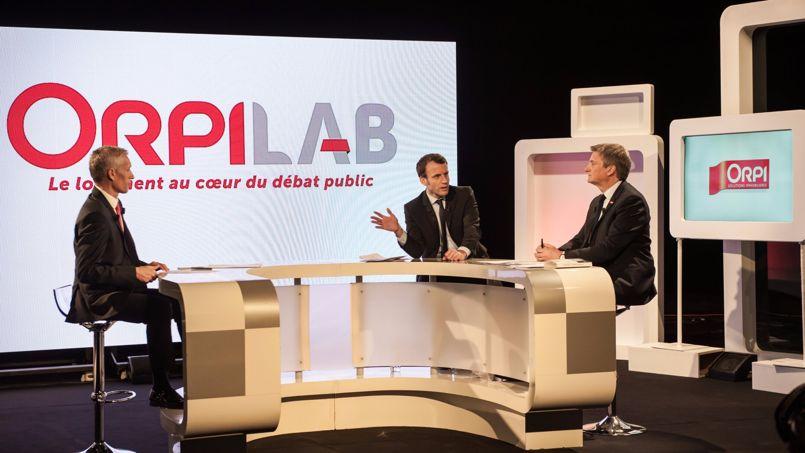 Invité d'OrpiLab, Emmanuel Macron a dévoilé ses idées phares pour le logement.