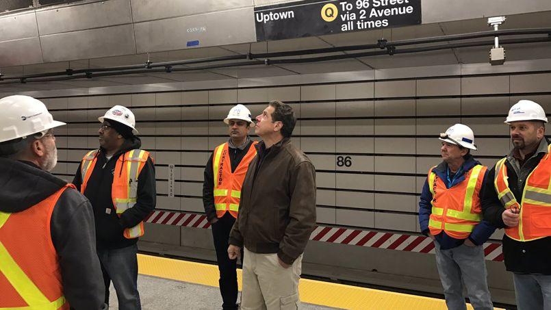 Photo prise sur le chantier, le 11 décembre.