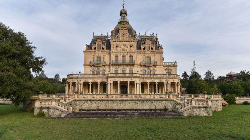 Le château d'Aubiry, à Céret (Pyrénées orientales).