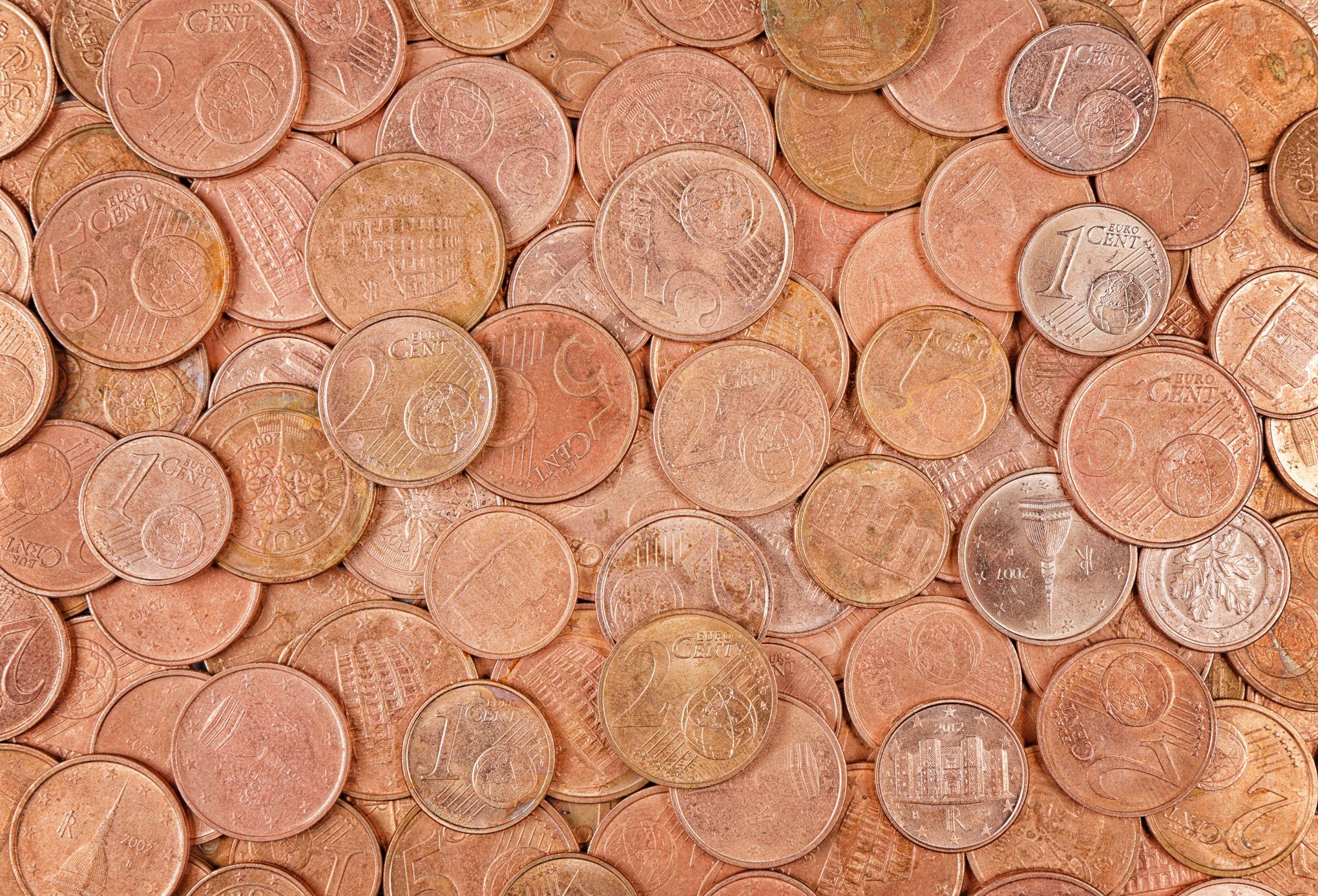 La fin des pièces de 1 et 2 centimes d'euro est envisagée