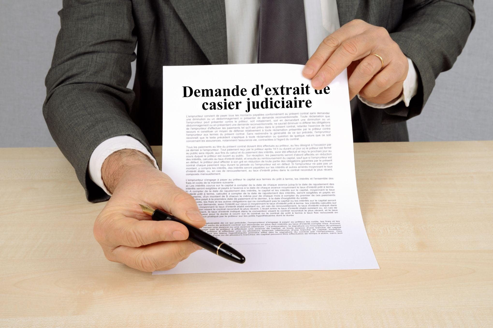 On peut désormais obtenir son casier judiciaire sur internet