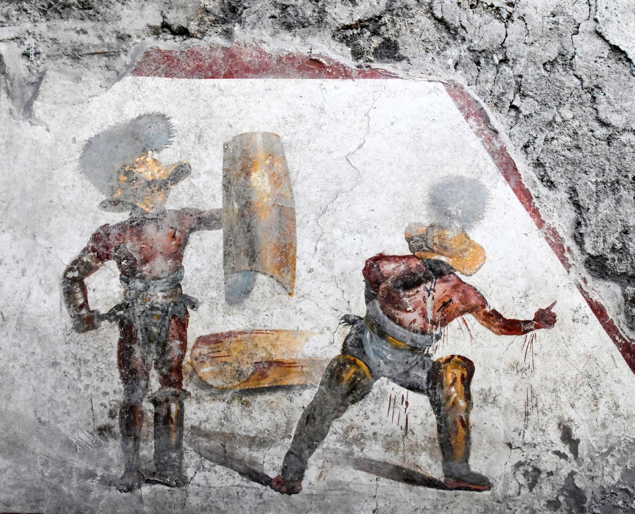 Pompéi: découverte d'une fresque à «l'hyperréalisme trash»