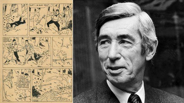 Une vente en demi-teinte pour une planche de Tintin chez Christie's