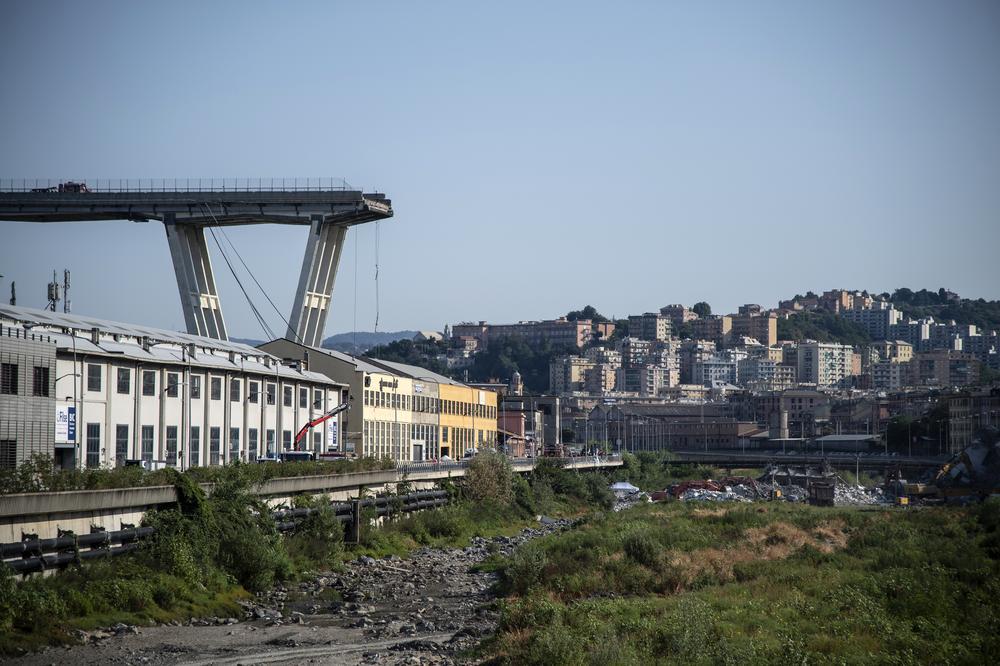 Le viaduc de Gênes, 3 jours après la catastrophe