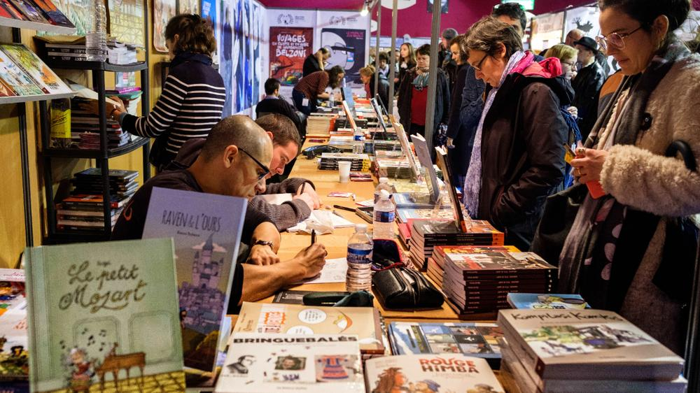 <p>Le 25 janvier 2018 au Festival d'Angoulême</p>