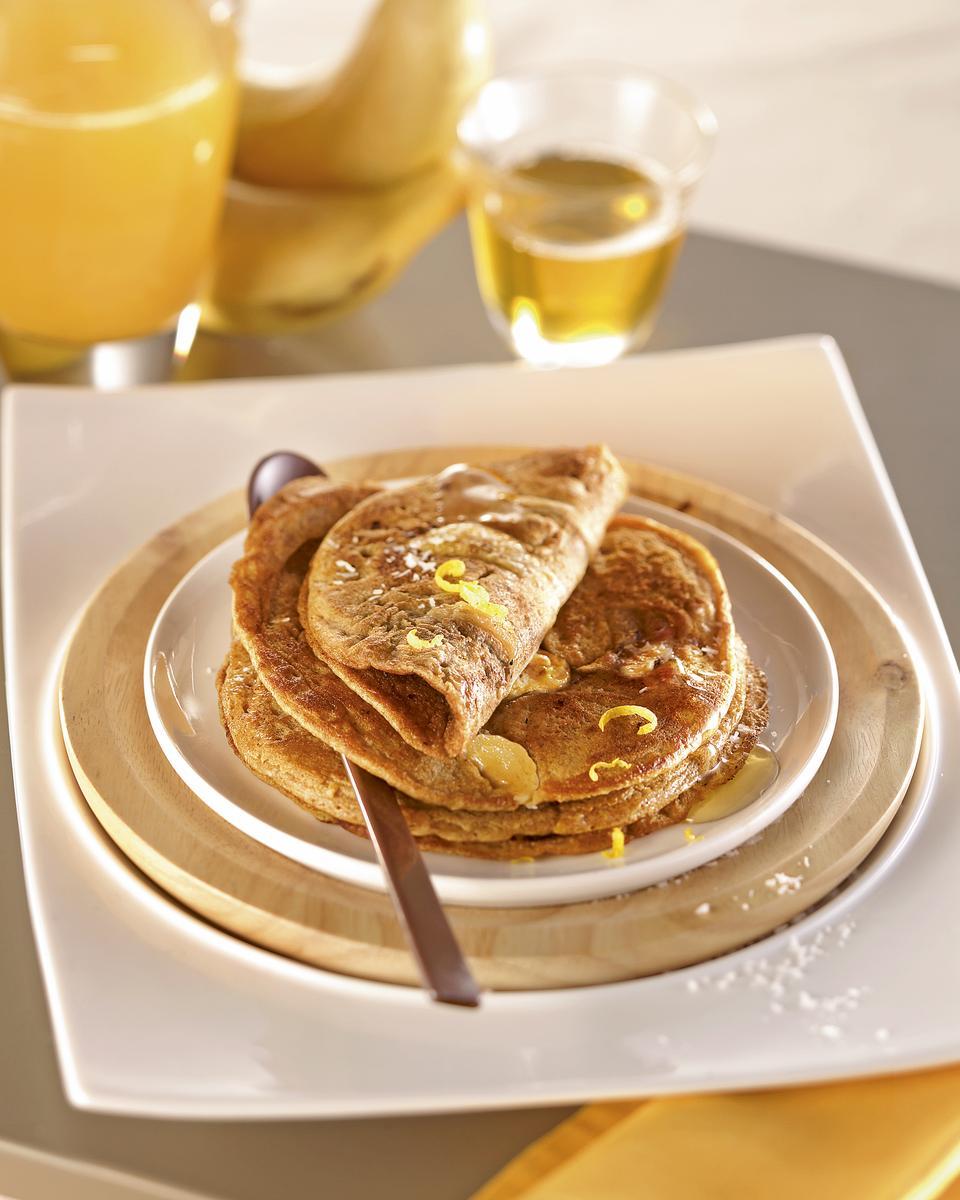 recette pancakes banane coco la farine de petit peautre. Black Bedroom Furniture Sets. Home Design Ideas