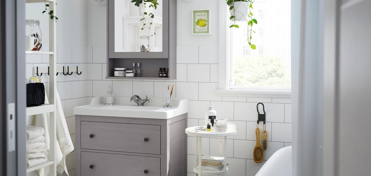 d co comment am nager une petite salle de bains madame figaro. Black Bedroom Furniture Sets. Home Design Ideas