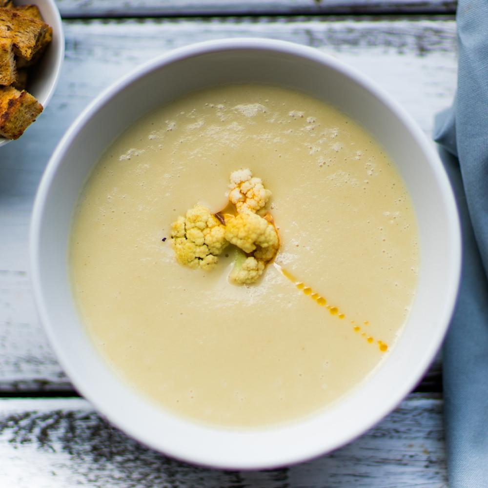 recette soupe chou-fleur et pomme au cumin - cuisine / madame