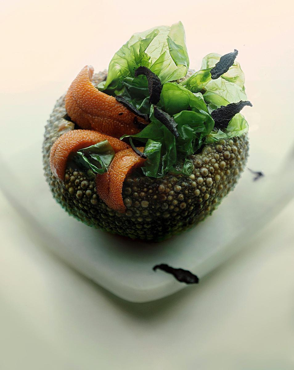 recette oursins la cr me d pinards cuisine madame figaro. Black Bedroom Furniture Sets. Home Design Ideas