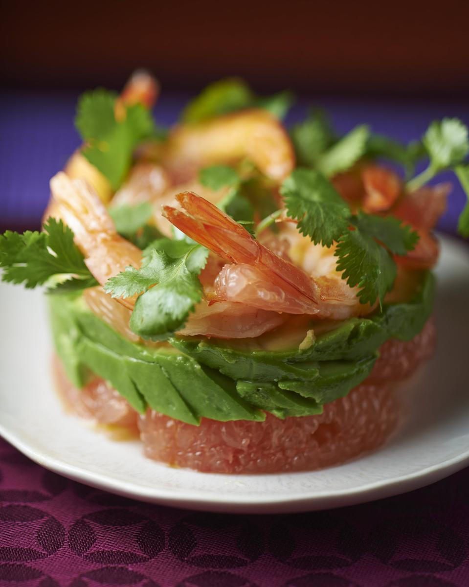 recette salade de crevettes pamplemousse et avocat cuisine. Black Bedroom Furniture Sets. Home Design Ideas