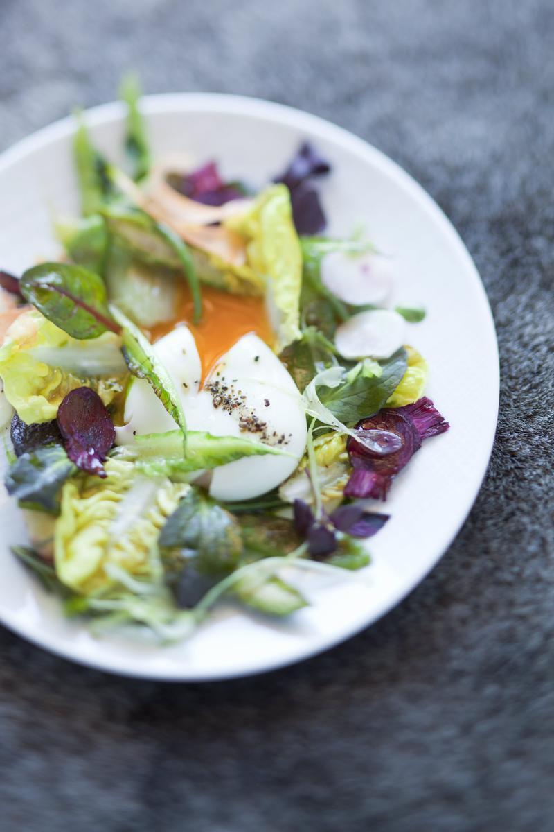 recette salade de l gumes mi crus mi cuits uf mollet. Black Bedroom Furniture Sets. Home Design Ideas